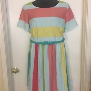 Eloquii Colorful Striped Dress